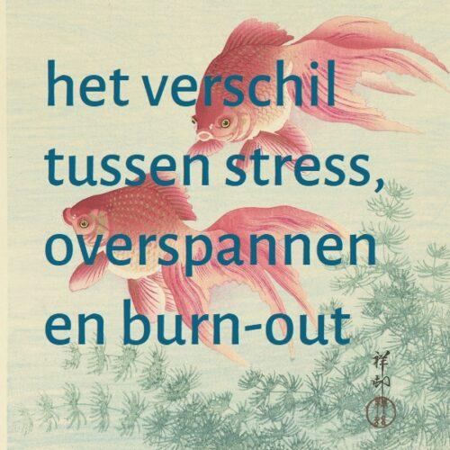 het verschil tussen stress, overspannen en burn-out